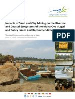 Impacts of Sand and Clay Mining on the Riverine and Coastal Ecosystems of the Maha Oya Legal and Policy Issues and Recommendations