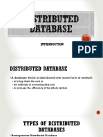 Distributed Database I