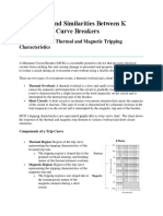 Differences and Similarities Between K Curve and D Curve Breakers