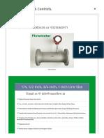 Mass Flow Meter Catalogue Online