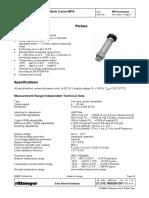 Pressure Transmitter MPG Data Sheet