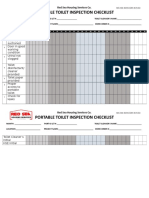 Toilet Inspection Checklist