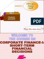 Corporate Finance, Funds Statament,Agency Problem 52