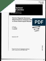 ammonia solution NMR