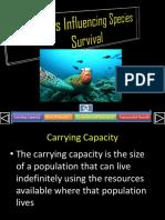 Factors Influencing Species Survival