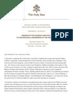 Address of His Holiness John Paul II