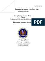 Oracle Application Server on Windows 2003 Security Guide