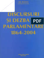 Discursuri Si Dezbateri Parlamentare (1864-2004)))