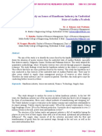 An Analytical Study on Issues of Handloom Industry in Undivided State of Andhra Pradesh http://ijire.org