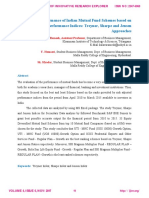 A Study on Performance of Indian Mutual Fund Schemes based on Risk Adjusted Performance Indices