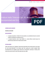 Iridium India Telecom Ltd. vs. Motorola Inc
