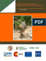Informe sobre Impacto de Sequía en el Chaco Boliviano (Prov. Cordillera), Julio 2010