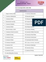 Τα εκπαιδευτικά ιδρύματα που συμμετέχουν στην έκθεση