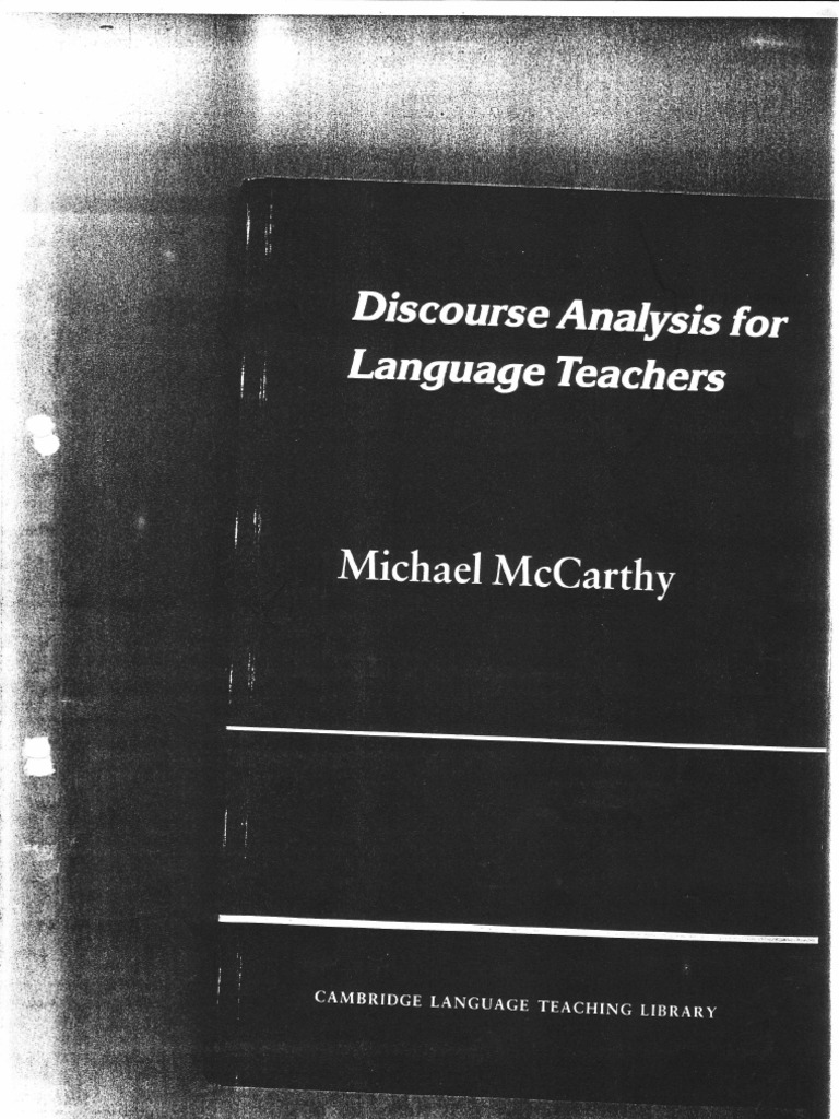 Michael mccarthy discourse analysis for language teachers michael mccarthy discourse analysis for language teachers sentence linguistics english language fandeluxe Image collections