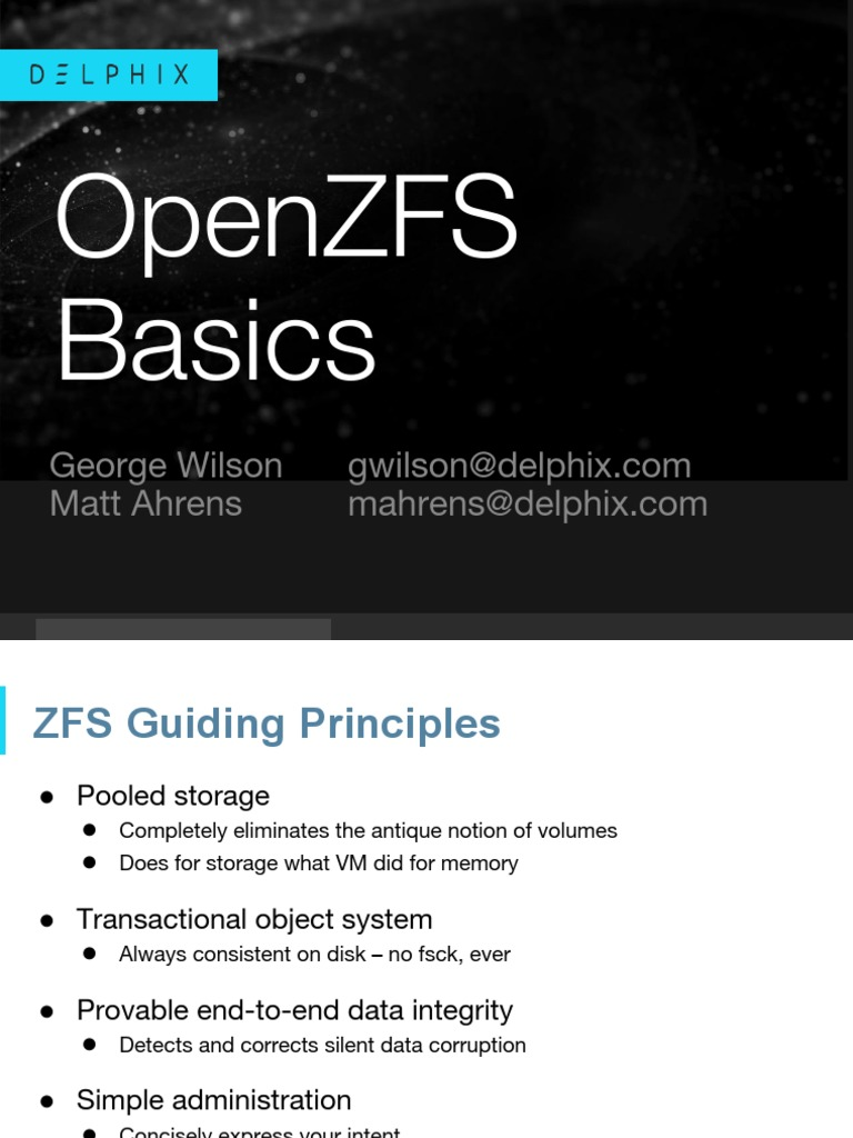zfs_scale16x | File System | Computer Architecture