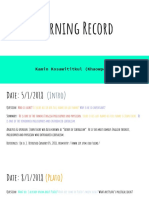 learning record  1