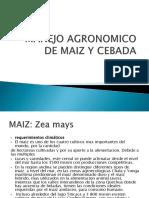 Manejo Agronomico de Maiz y Cebada Semana 03