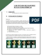 Practica de Estado de Madurez de Frutas Climatéricas