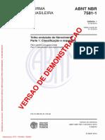 Telha Ondulada de Fibrocimento - Parte 1 - Classificação e Requisitos(Full Permission)