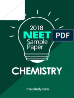 NEET 2018 Chemistry Sample Question Paper
