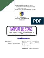 RAPPORT de STAGE - Ingénieur Technicien en Electronique