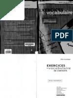Exercices de Vocabulaire en Contexte - Mis en Pratique Hachette