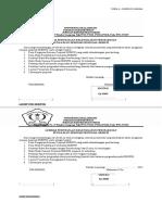 Lembar Pernyataan Kelengkapan Persyaratan