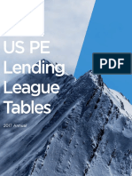PitchBook 2017 Annual US PE Lending League Tables
