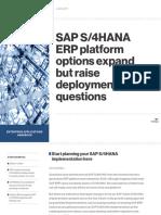 SAP S_4HANA ERP Platform Options Expand but Raise Deployment Questionsv2