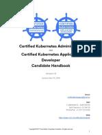 CKA CKAD Candidate Handbook v1.9 2018 April 16