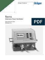 Operator Manual Drager Savina