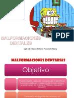 Malformaciones Dentarias Para Presentar en Uss 2015