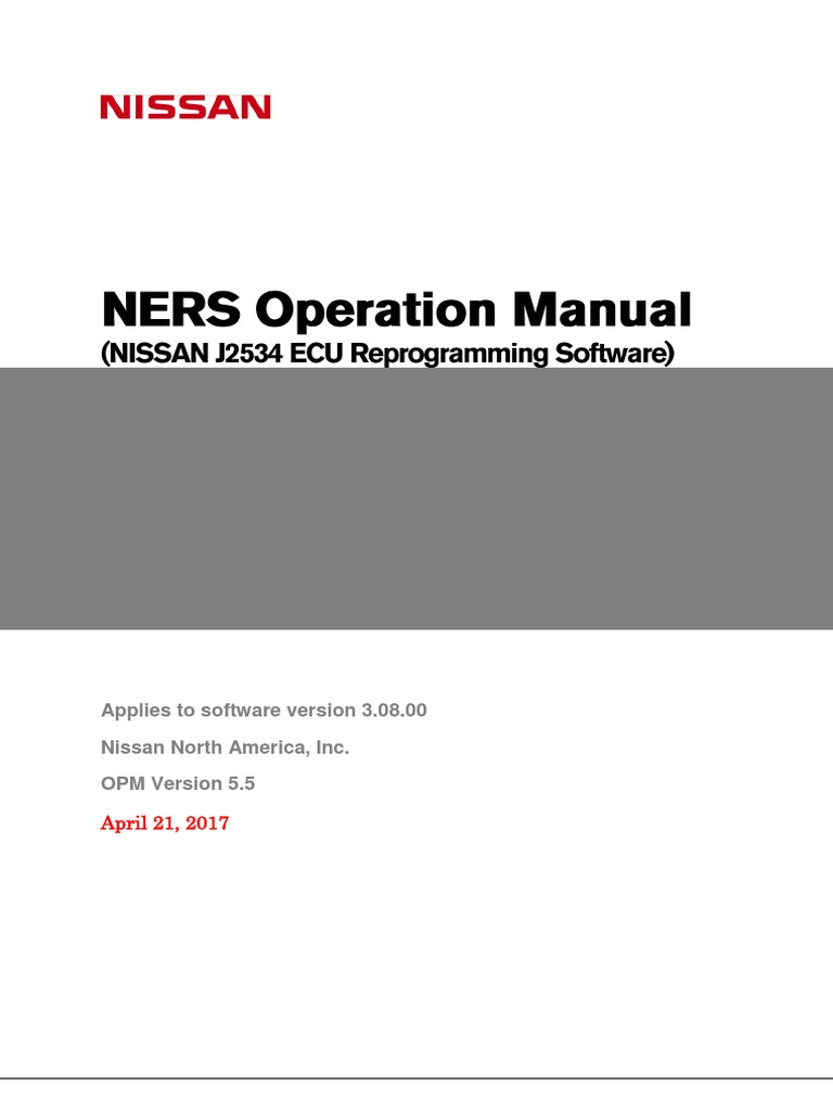 NERS Operation Manual V5 5 | Installation (Computer Programs