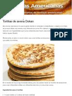 Tortitas de avena Dukan | Tortitasamericanas.net