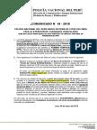 COMUNICADO PNP N° 18 - 2018