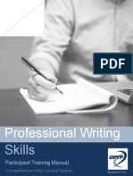 Professional Writing Skills Manual