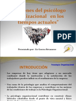 DEFINICION psicologia organizacional