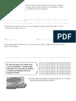 Ficha de matematicas 6 de primaria (areas y angulos)