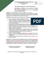 Acta de Compromiso Para Desarrollo de La Práctica Profesional