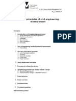 General Principles of Civil Engineering Measurement