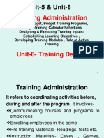 Unit-5 & 8 Training Administration