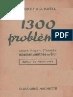 Jorez Koel 1300 Problemes Cm2 1963