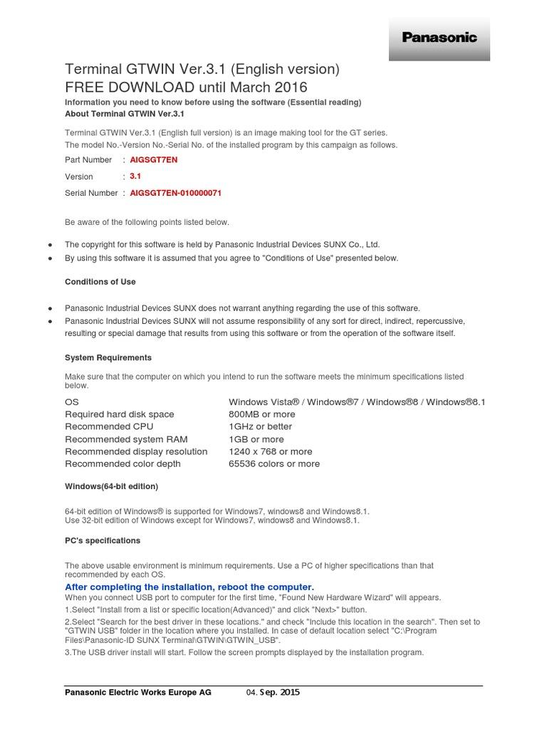 gtwin_v pdf | Windows 8 1 | Windows 7