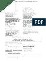 SCO vs. IBM - Joint status report