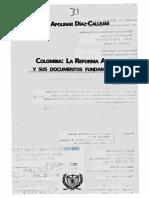 Díaz, Apolinar - Reforma Agraria en Colomba en El Siglo XX Cienaños de Aplazamientos