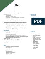 copy of resume for portfolio