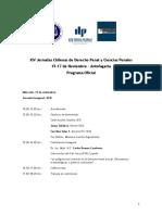 Programa XIV Jornadas DPyCP v 29 10