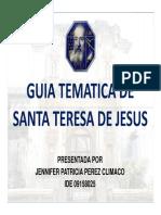Guía Tematica Ruina Santa Teresa de Jesús PPT