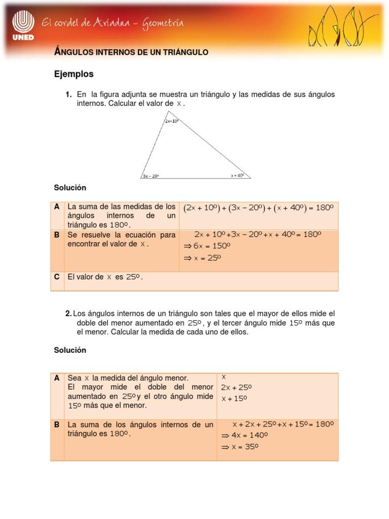 Geometria Angulos Internos De Un Triangulo Rectángulo Triángulo