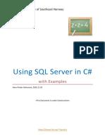 Using SQL Server in CSharp